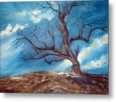 Daddy's Tree Metal Print by Meaghan Troup