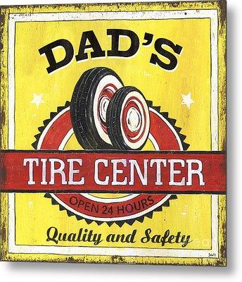 Dad's Tire Center Metal Print by Debbie DeWitt