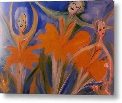 Daffodil Ballet Metal Print by Judith Desrosiers