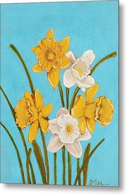 Daffodils Metal Print by Anastasiya Malakhova