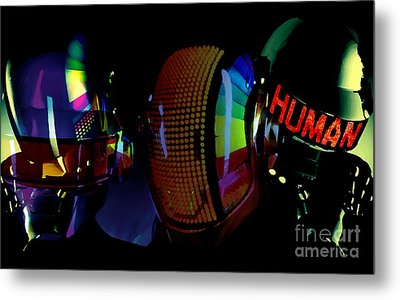 Daft Punk Painting Metal Print by Marvin Blaine