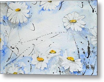 Daisies - Flower Metal Print by Ismeta Gruenwald