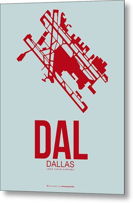 Dal Dallas Airport Poster 3 Metal Print by Naxart Studio