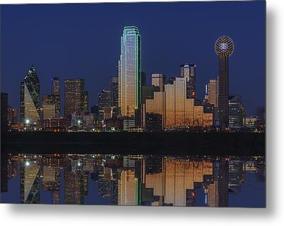 Dallas Aglow Metal Print by Rick Berk