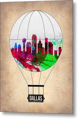 Dallas Air Balloon Metal Print by Naxart Studio