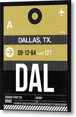 Dallas Airport Poster 2 Metal Print by Naxart Studio
