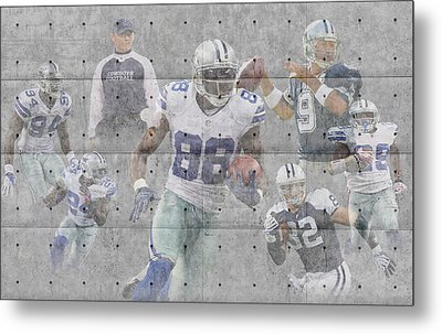 Dallas Cowboys Team Metal Print by Joe Hamilton