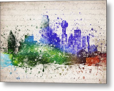 Dallas In Color Metal Print by Aged Pixel