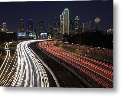 Dallas Night Metal Print by Rick Berk