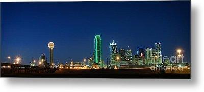 Dallas Skyline Metal Print by Charles Dobbs