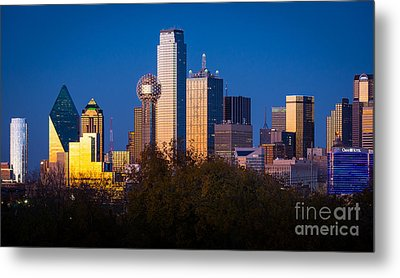 Dallas Skyline Metal Print by Inge Johnsson