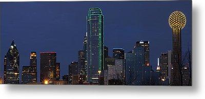 Dallas Skyline Metal Print by Jonathan Davison