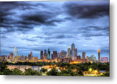Dallas Skyline Metal Print by Shawn Everhart