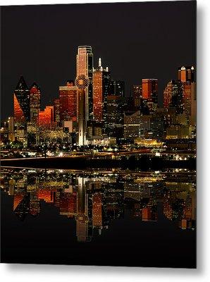 Dallas Texas Night Metal Print by Daniel Hagerman