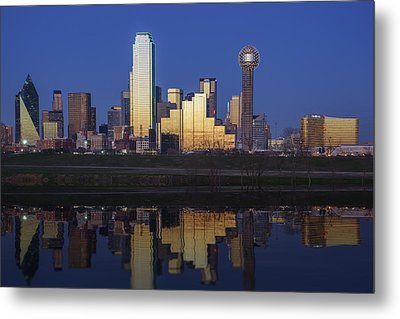 Dallas Twilight Metal Print by Rick Berk