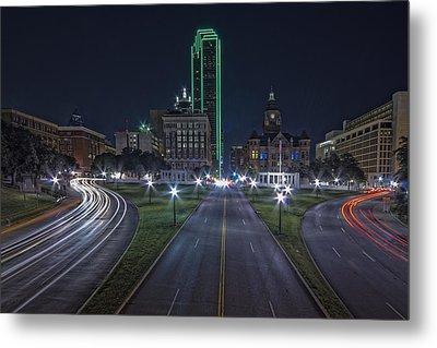 Dallas West End At Night Metal Print by Jonathan Davison