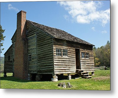 Dan Lawson Cabin In Cades Cove Metal Print by Roger Potts