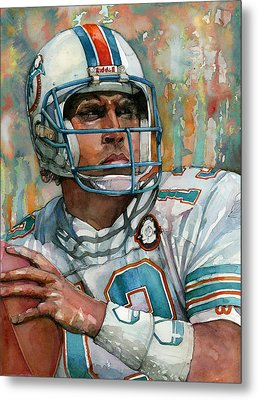 Dan Marino Metal Print by Michael  Pattison