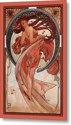 Dance Metal Print by Alphonse Maria Mucha