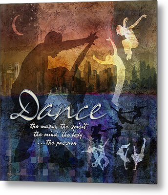 Dance Bright Colors Metal Print by Evie Cook