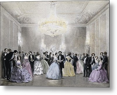 Dance Hall Of Mr. Laborde. Litography Metal Print by Everett