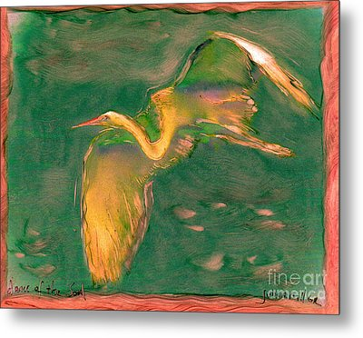 Dance Of The Soul Metal Print by FeatherStone Studio Julie A Miller