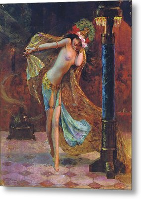 Dance Of The Veils Metal Print by Gaston Bussiere