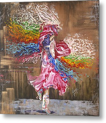Dance Through The Color Of Life Metal Print by Karina Llergo