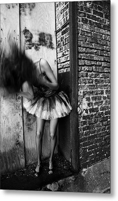 Dancer In The Alley Metal Print by Jon Van Gilder