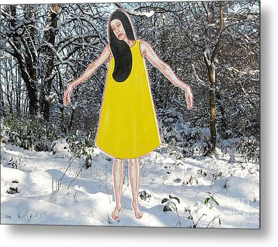 Dancer In The Snow Metal Print by Patrick J Murphy
