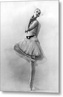 Dancer Nikitina At Monte Carlo Metal Print by Underwood Archives