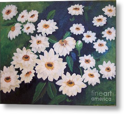 Dancing Dasies Metal Print by Lucia Grilletto