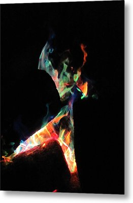 Dancing Flames Metal Print by Kerry Lapcevich