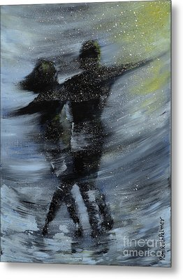 Dancing In The Night Metal Print by Roni Ruth Palmer