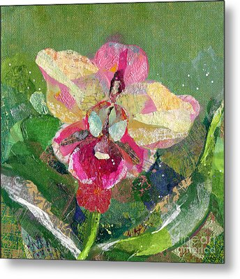 Dancing Orchid I Metal Print by Shadia Zayed