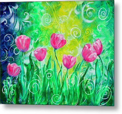 Dancing Tulips Metal Print by Jan Marvin