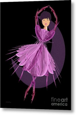 Dancing With The Moon A Metal Print by Andee Design