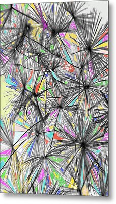 Dandelion Seeds - Abstract Metal Print by Marianna Mills