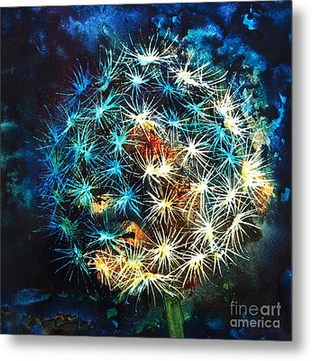 Dandy Puff Metal Print by Kathy Braud