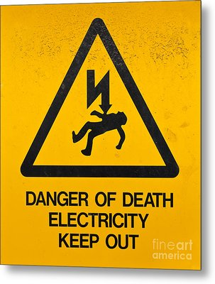 Danger Of Death - Electricity Metal Print by Shawn Hempel