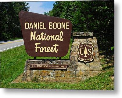 Daniel Boone Metal Print by Frozen in Time Fine Art Photography