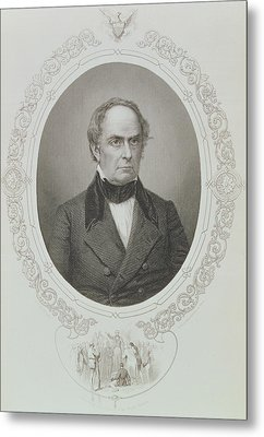 Daniel Webster, From The History Of The United States, Vol. II, By Charles Mackay, Engraved By T Metal Print by Mathew Brady