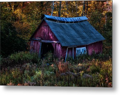 Dappled Light On The Sugar House Metal Print by Thomas Schoeller