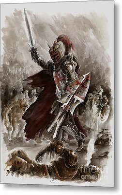 Dark Crusader Metal Print by Mariusz Szmerdt