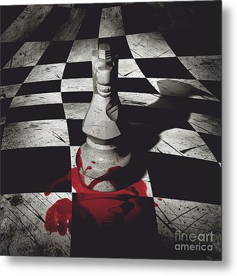 Dark Knight Of The Grand Chessboard Metal Print by Jorgo Photography - Wall Art Gallery