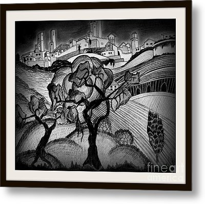 Dark Life Metal Print by Mylene Le Bouthillier