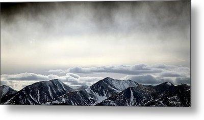 Dark Storm Cloud Mist  Metal Print by Barbara Chichester