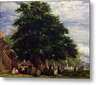 Darley Churchyard Metal Print by David Cox
