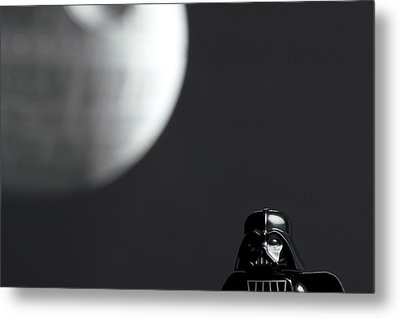 Darth And His Death Star Metal Print by Samuel Whitton
