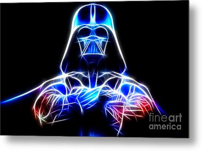 Darth Vader - The Force Be With You Metal Print by Pamela Johnson